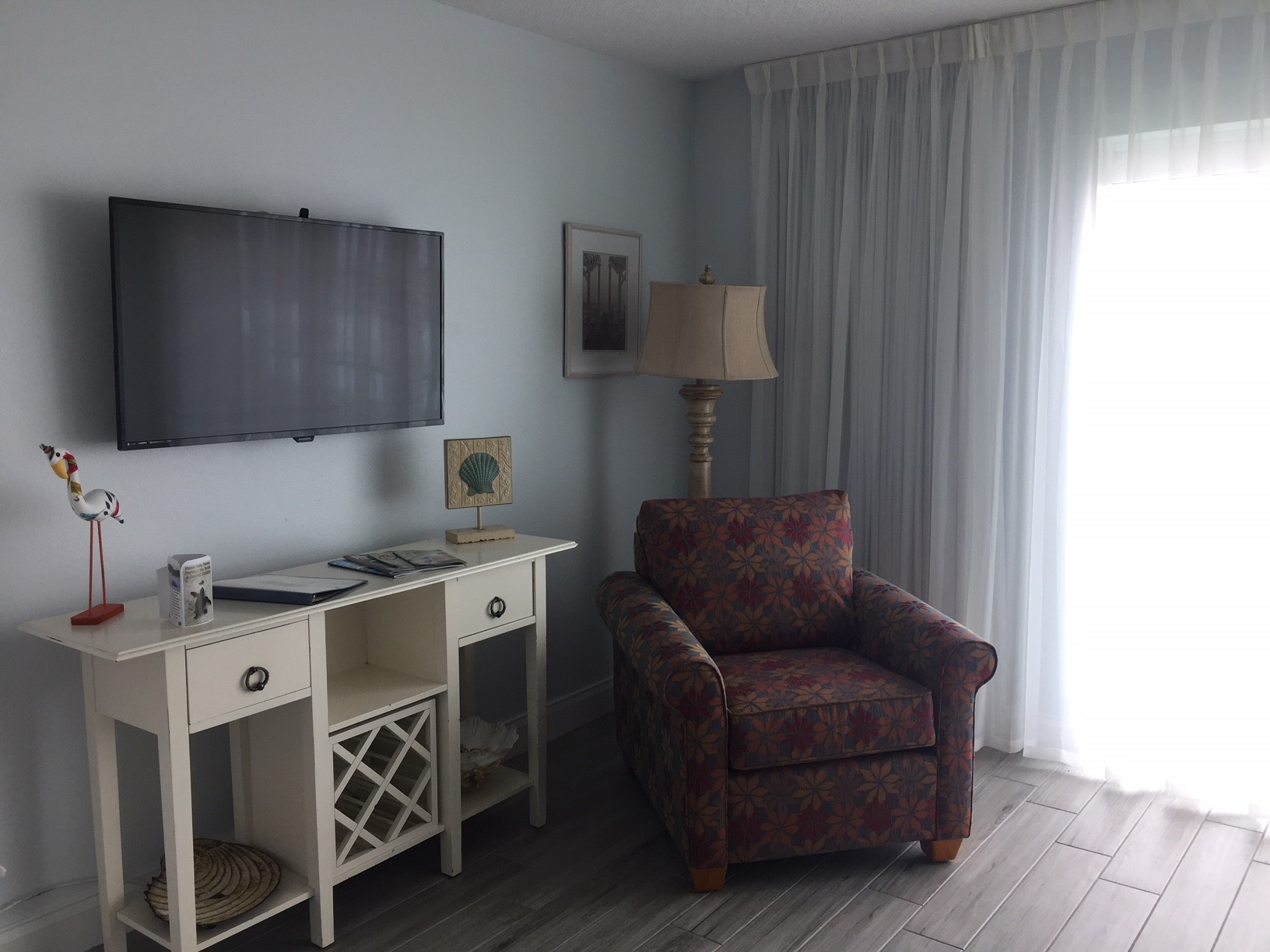 TV in living room and bedroom of 1-bedroom suite